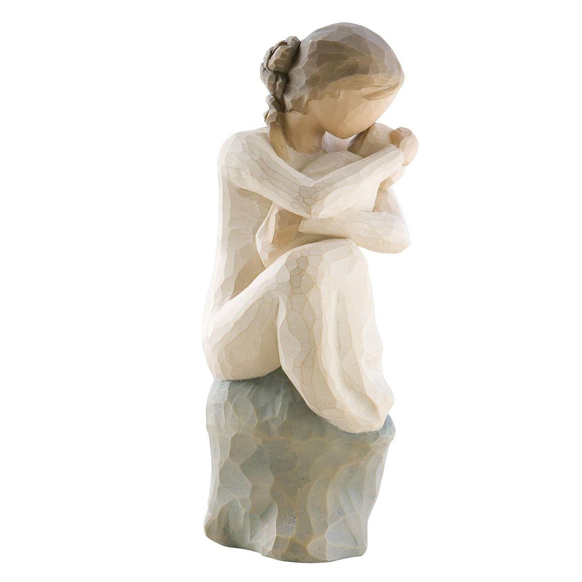 Фигурка декоративная Willow Tree Хранитель, высота 15 см26195Декоративная фигурка Willow Tree создана канадским скульптором Сьюзан Лорди. Фигурка выполнена из искусственного камня (49% карбонат кальция мелкозернистой разновидности, 51% искусственный камень).Фигурка Willow Tree – это настоящее произведение искусства, образная скульптура в миниатюре, изображающая эмоции и чувства, которые помогают чувствовать себя ближе к другим, верить в мечту, выражать любовь.Фигурка помещена в красивую упаковку.Купить такой оригинальный подарок, значит не только украсить интерьер помещения или жилой комнаты, но выразить свое глубокое отношение к любимому человеку. Этот прекрасный сувенир будет лучшим подарком на день ангела, именины, день рождения, юбилей.