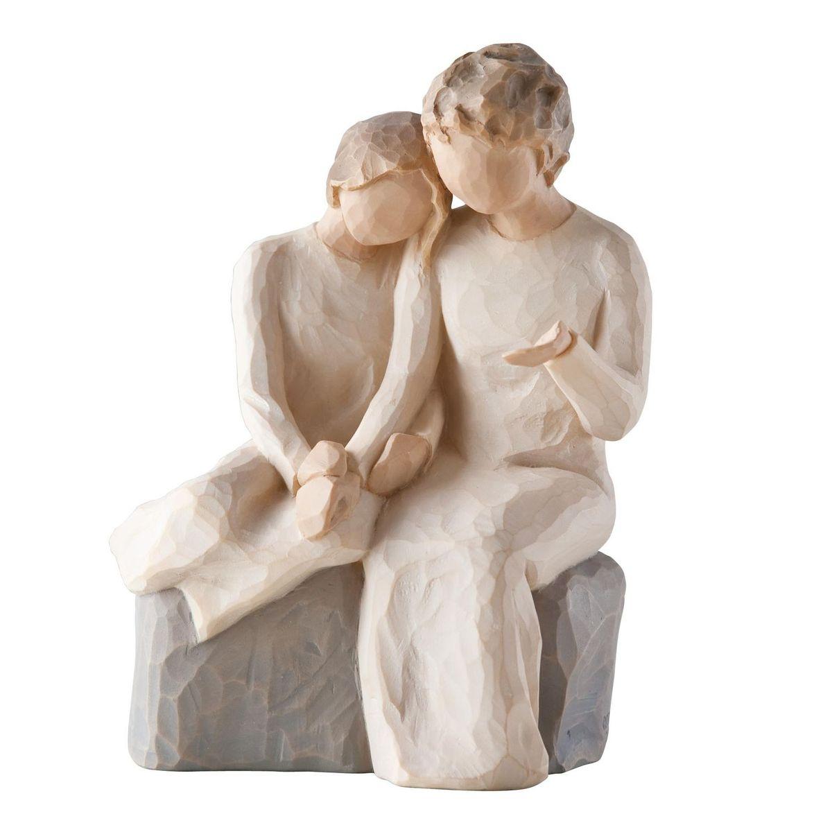 """Декоративная фигурка """"Willow Tree"""" создана канадским скульптором Сьюзан Лорди. Фигурка выполнена из искусственного камня (49% карбонат кальция мелкозернистой разновидности, 51% искусственный камень).  Фигурка """"Willow Tree"""" – это настоящее произведение искусства, образная скульптура в миниатюре, изображающая эмоции и чувства, которые помогают чувствовать себя ближе к другим, верить в мечту, выражать любовь.  Фигурка помещена в красивую упаковку.  Купить такой оригинальный подарок, значит не только украсить интерьер помещения или жилой комнаты, но выразить свое глубокое отношение к любимому человеку. Этот прекрасный сувенир будет лучшим подарком на день ангела, именины, день рождения, юбилей."""