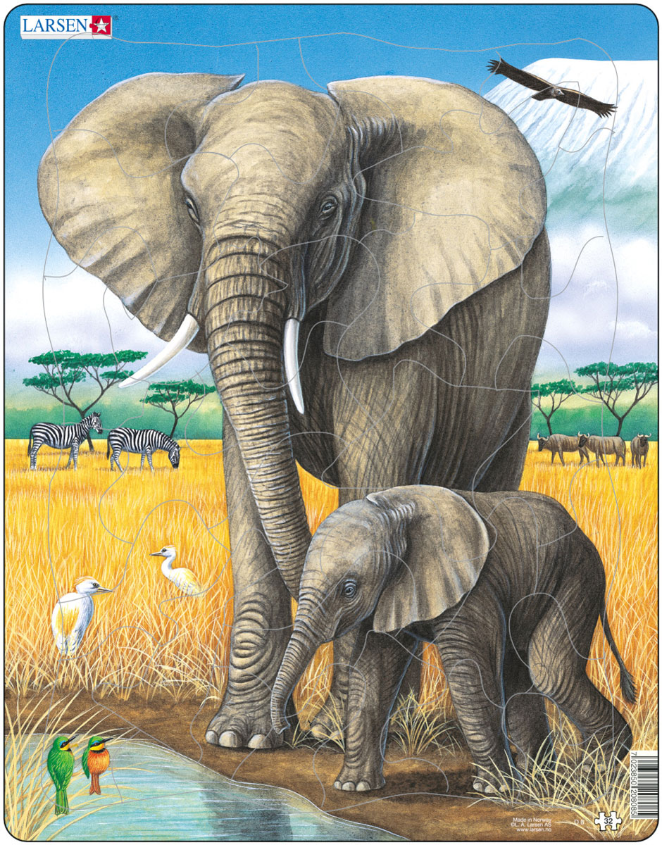 Larsen Пазл Слоны
