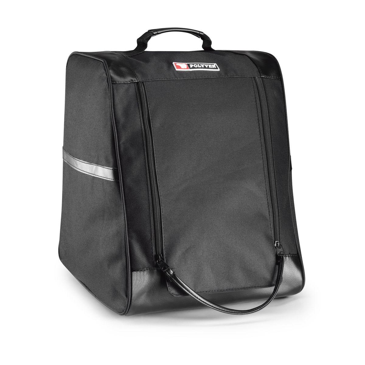 Сумка для сапог POLYVER , цвет: черный.AM-PREMBAG-151413Данная сумка предназначена для переноски/хранения грязной и мокрой обуви. Ткань с водоотталкивающей пропиткой не позволит испачкать другие вещи в машине, а вставка из галантерейной сетки даст возможность обуви подсохнуть. Сумка отлично вместит и другие вещи необходимые на охоте или рыбалке (перчатки, шипы, шапка и другое).Цвет черный.