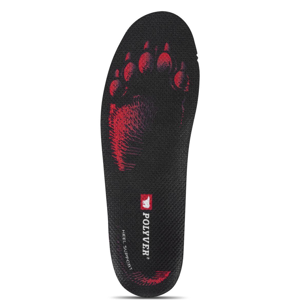 Стельки мужские Polyver Premium, цвет: красный, черный. Размер 44/45AM-INSO-4Термоизоляционные стельки Polyver Premium отлично защищают ноги от холода, при этом отводя лишнюю влагу. Стельки состоят из трех слоев: впитывающий влагу, амортизационный, термоизоляционный. Комфорт:- анатомическая форма с поддержкой пятки,- стабилизация стопы для уменьшения боли с суставах,- повышает устойчивость и уменьшает усталость.