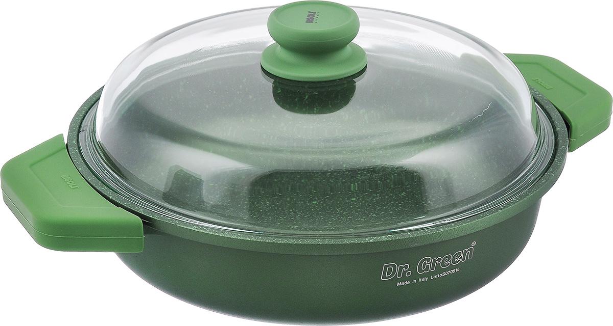 Сковорода Risoli Dr. Green с крышкой, с антипригарным покрытием. Диаметр 28 см. 00099DR/28GS ковш risoli dr green extra induction с крышкой 16 см