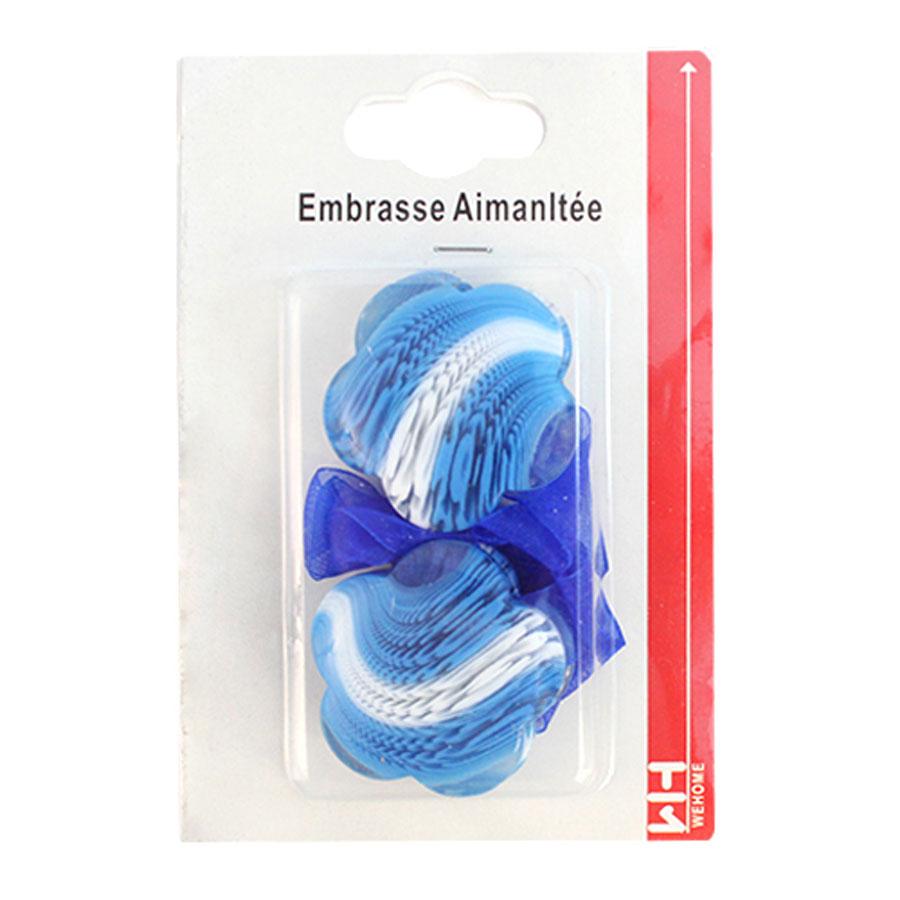 Подхват для штор Wehome, на магнитах, цвет: белый, голубой, 2 шт7711304_голубойПодхват для штор Wehome, выполненный изпластика, можно использовать как держатель дляштор или для формирования декоративных складокна ткани. С его помощью можно зафиксироватьшторы или скрепить их, придать им требуемоеположение, сделать симметричные складки.Благодаря магнитам подхват легко надевается иснимается. Подхват для штор является универсальнымизделием, которое превосходно подойдет длялюбых видов штор. Подхваты придадут шторамвосхитительный, стильный внешний вид и добавятуют в интерьер помещения. Длина подхвата: 29 см.