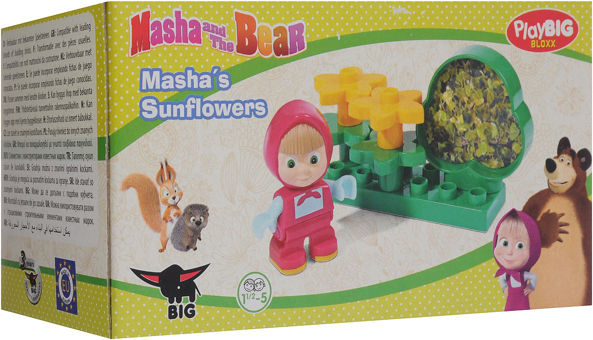 Play Big Конструктор Маша и Медведь Подсолнухи big конструктор маша и медведь бассейн