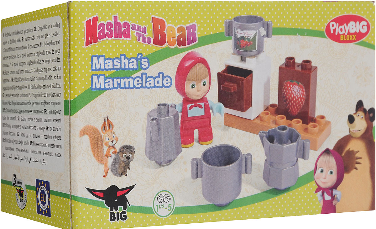 Play Big Конструктор Маша и Медведь Мармелад, BIG SPIELWARENFABRIK GmbH & Co. KG
