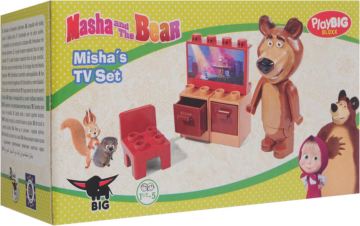 Play Big Конструктор Маша и Медведь Телевизор big конструктор маша и медведь бассейн