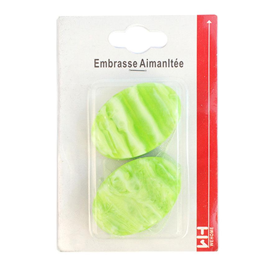 Подхват для штор Wehome, на магнитах, цвет: зеленый, 2 шт. 77113027711302_зеленыйПодхват для штор Wehome, выполненный из пластика, можно использовать как держатель для штор или для формирования декоративных складок на ткани. С его помощью можно зафиксировать шторы или скрепить их, придать им требуемое положение, сделать симметричные складки. Благодаря магнитам подхват легко надевается и снимается.Подхват для штор является универсальным изделием, которое превосходно подойдет для любых видов штор. Подхваты придадут шторам восхитительный, стильный внешний вид и добавят уют в интерьер помещения.Длина подхвата: 35 см.