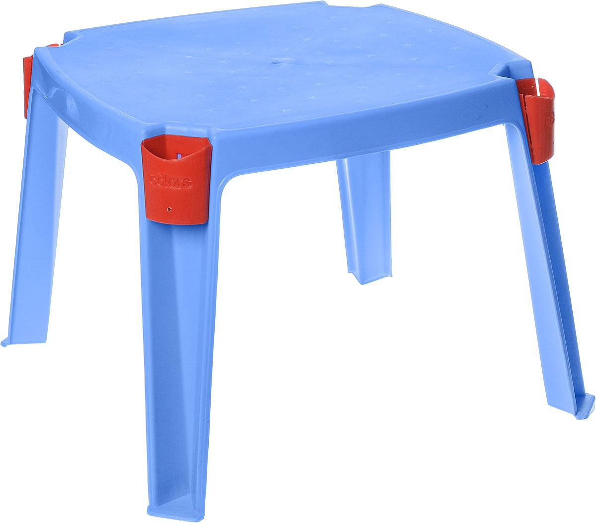 PalPlay Стол детский с карманами цвет голубой 53 см х 53 см364_голубойУдобный детский столик PalPlay необходим каждому ребенку. За столиком ребенок может играть, заниматься творчеством.Изделие, изготовленное из прочного, но легкого пластика, оснащено удобными кармашками для хранения различных предметов. Теперь у малыша будет отдельный столик, который идеально подойдет ему по размеру и он сможет приглашать на чаепитие своих друзей, в том числе и плюшевых, а также заниматься творческой работой: рисовать, лепить, раскрашивать.