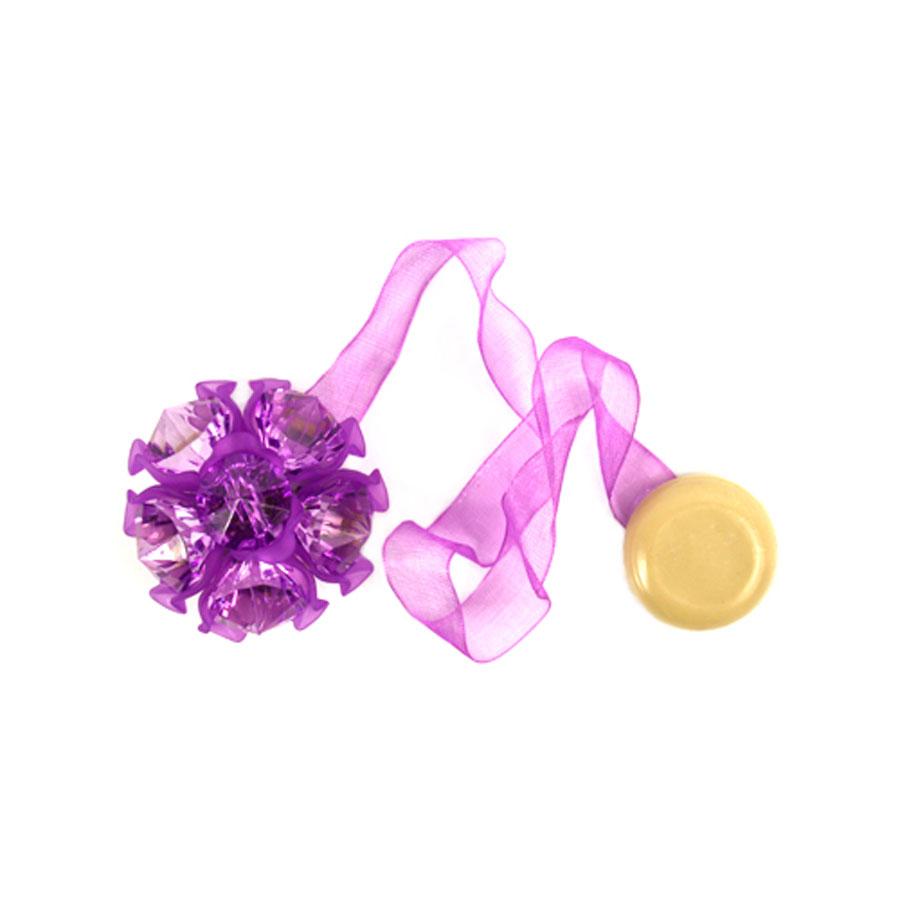Клипса-магнит для штор Астра, цвет: сиреневый, 2 шт7713413_8121 сиреневыйКлипса-магнит Астра, изготовленная из акрила и текстиля, предназначена для придания формы шторам. Изделие представляет собой два магнита, расположенные на разных концах текстильной ленты. Один из магнитов оформлен декоративным цветком. С помощью такой магнитной клипсы можно зафиксировать портьеры, придать им требуемое положение, сделать складки симметричными или приблизить портьеры, скрепить их. Клипсы для штор являются универсальным изделием, которое превосходно подойдет как для штор в детской комнате, так и для штор в гостиной. Следует отметить, что клипсы для штор выполняют не только практическую функцию, но также являются одной из основных деталей декора этого изделия, которая придает шторам восхитительный, стильный внешний вид.Диаметр декоративного цветка: 4,5 см.Диаметр магнита: 2 см.Длина ленты: 27 см.
