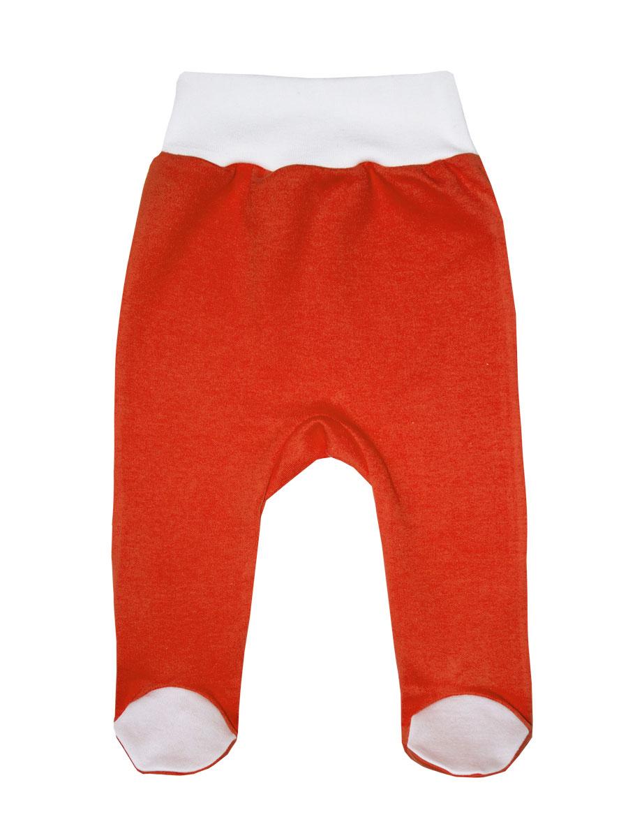 Ползунки на широком поясе КотМарКот, цвет: морковный, белый. 5288. Размер 86, 1,5 года фонарь красная цена 5288