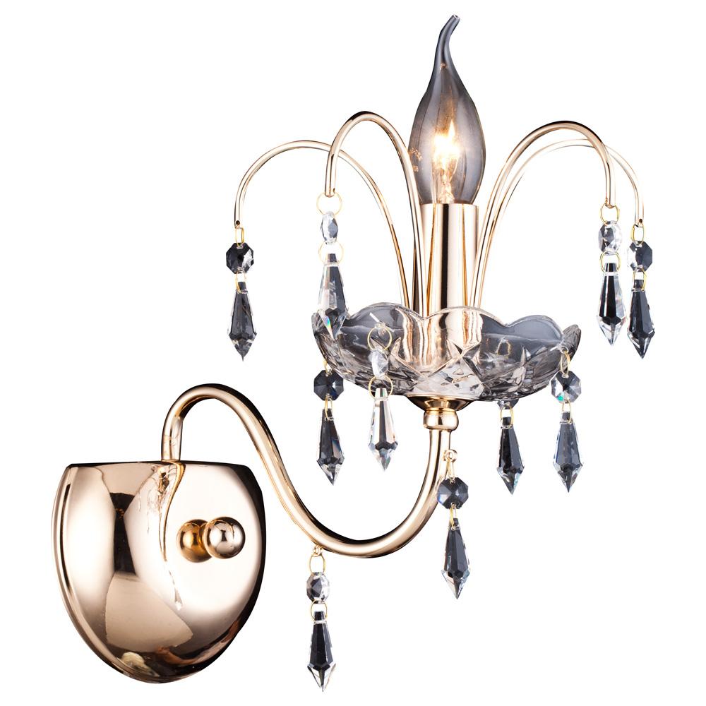 Светильник настенный Arte Lamp SPARKLES A3054AP-1GO люстра arte lamp sparkles a3054lm 8go