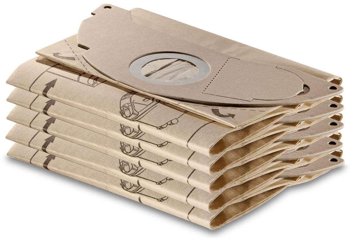 Karcher 69041430 комплект фильтров, 5 шт + 1 микро-фильтр69041430Пакеты Karcher состоят из двухслойных бумажных фильтров с прочной поверхностью. В комплекте 5 штук и 1 микрофильтр. Подходит к аппаратам серии SE.