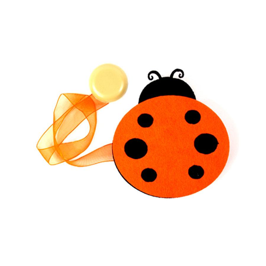 Клипса-магнит для штор Астра Божья коровка, цвет: оранжевый, черный, 8 х 9 см стол офисный skyland imago s са 2s l