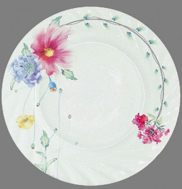 Тарелка обеденная Chinbull Флоренция, диаметр 23 смHP-90/6646Обеденная тарелка Chinbull Флоренция, изготовленная из высококачественной стеклокерамики,украшена ярким цветочным рисунком. Изящный дизайн придется по вкусу и ценителям классики,и тем, кто предпочитает утонченность.Тарелка Chinbull Флоренция идеально подойдет для сервировкистола и станет отличным подарком к любому празднику. Диаметр (по верхнему краю): 23 см.