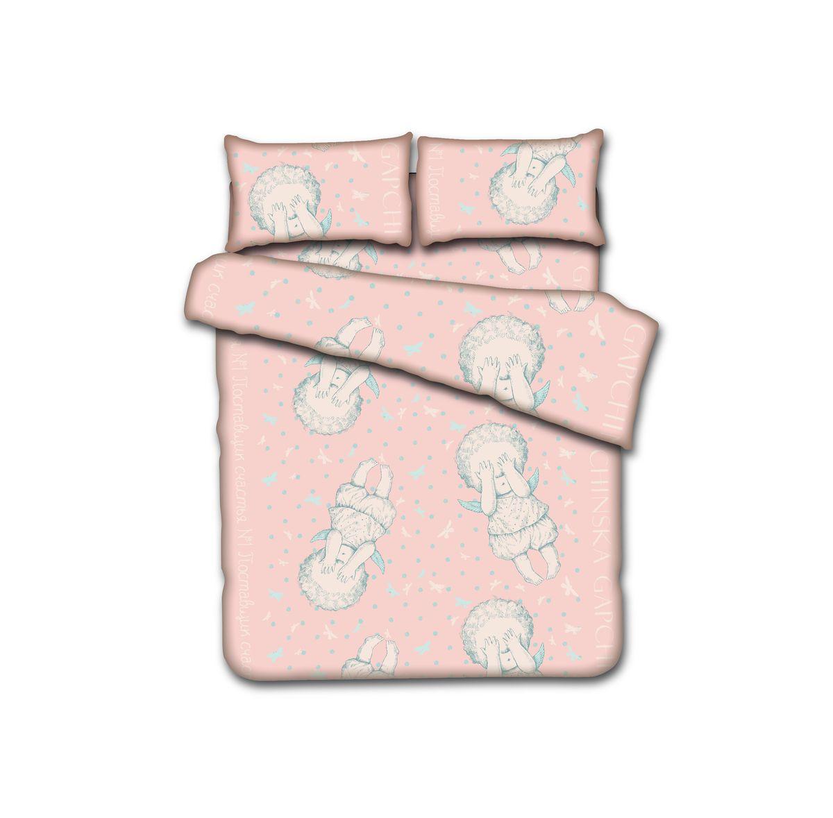 КПБ 1,5сп. GAPCHINSKA, 100% хлопок, диз. Бабочки в моей голове…, цвет - розовый (нав. 50х70см-2шт)БК1,5/Г-БП/50Комплект постельного белья GAPCHINSKA является великолепным подарком с эксклюзивным дизайном от Евгении Гапчинской. В ее рисунки влюблен весь мир, их стиль уникален. Белье выполнено из натурального хлопка.