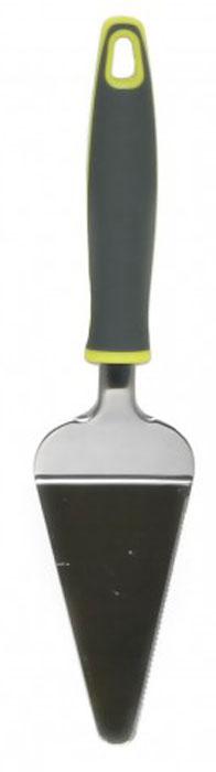 Лопатка для торта МФК-профит Comfort, длина 26,5 смMFK01026Лопатка для торта МФК-профит Comfort треугольной формы отлично подходит для раскладывания кусочков пиццы, пирога или торта. Ручка изготовлена из полипропилена с резиновыми вставками для удобного и комфортного хвата, рабочая часть - из нержавеющей стали. На рукоятке имеется отверстие для подвешивания. Можно мыть в посудомоечной машине. Размер рабочей части: 6 см х 12 см. Длина лопатки: 26,5 см.