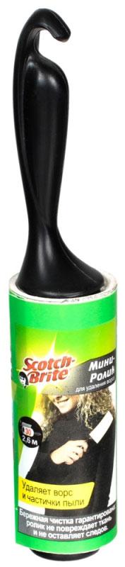 Мини-ролик для чистки одежды Scotch-Brite, 30 листовXA-0048-0826-8Мини-ролик Scotch-Brite быстро и тщательно удаляет ворс, частички пыли и шерсть домашних животных с тканевых поверхностей. Ролик не повреждает ткань и не оставляет следов. Ролик состоит из 30 липких листов. Использованные листы легко отрываются, так как лента имеет перфорацию. Удобная ручка обеспечивает комфорт во время чистки.Небольшой размер ролика позволяет носить его с собой в сумочке.Материал: пластик, полипропиленовая лента.Длина ролика (с учетом ручки): 16 см.Ширина липкой ленты: 8 см.Общая длина липкой ленты: 2,6 м.Количество листов: 30 шт.