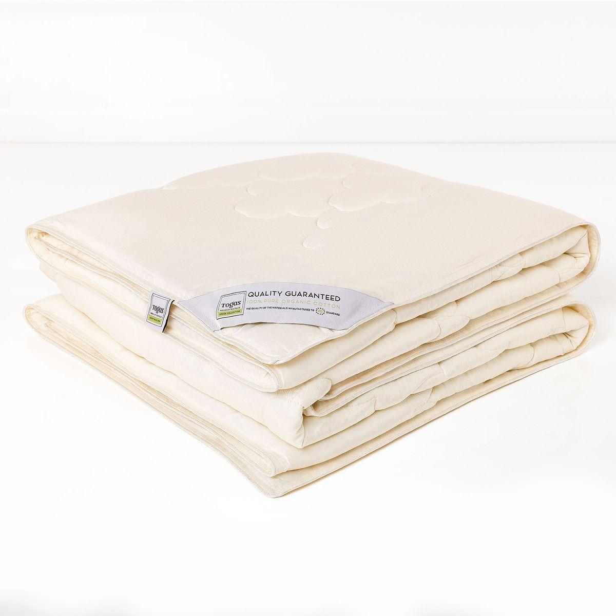 Одеяло Togas, наполнитель: хлопок, цвет: экрю, 220 х 240 см20.04.12.0007Одеяло Togas создаст комфортные условия для сна благодаря уникальным природным свойствам бамбука, входящего в состав наполнителя. Бамбуковое волокно мягкое и приятное на ощупь, по виду напоминает шелк и кашемир. В качестве наполнителя использован натуральный хлопок - высокопрочный, самый популярный в мире натуральный материал, известный своими впитывающими и терморегулирующими свойствами. Это одеяло поистине совершенно, ведь в нем объединились новейшие технологии, и безграничная сила природы…Одеяло из бамбукового волокна очень практично - за ним несложно ухаживать в домашних условиях.