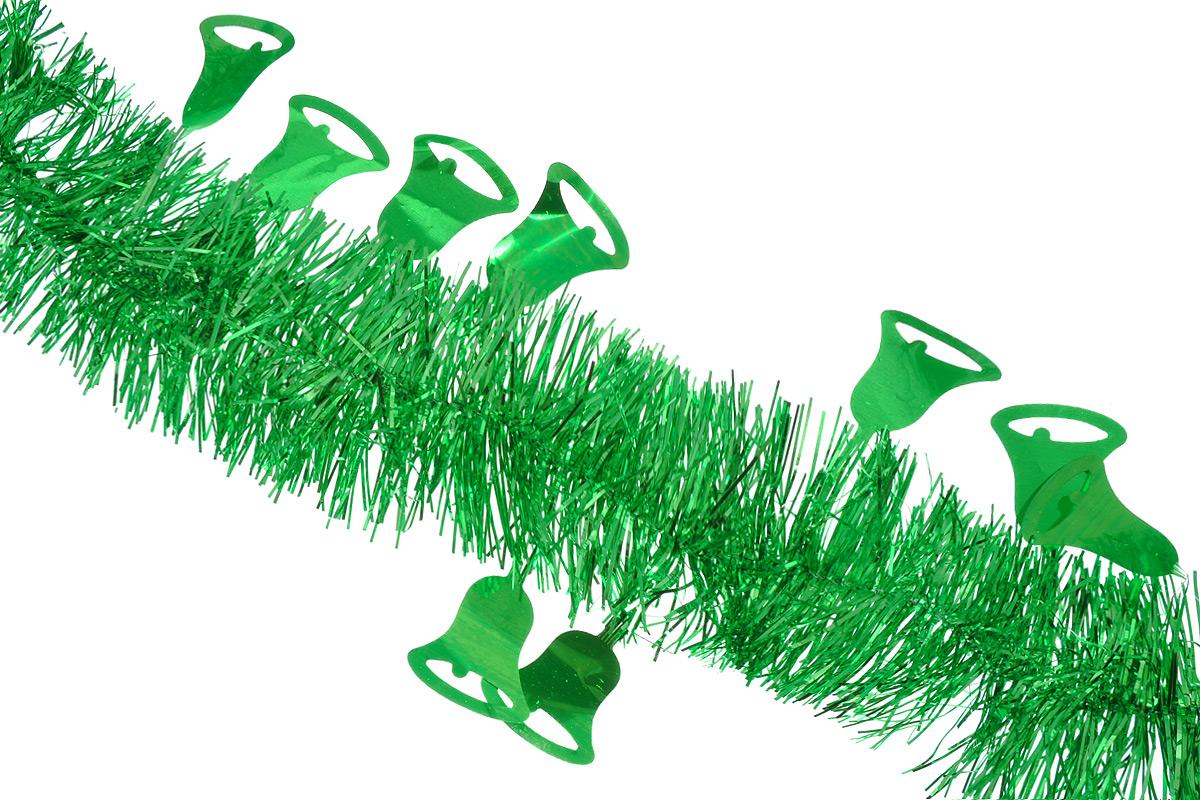 Мишура новогодняя Sima-land, цвет: зеленый, диаметр 8 см, длина 200 см. 702594