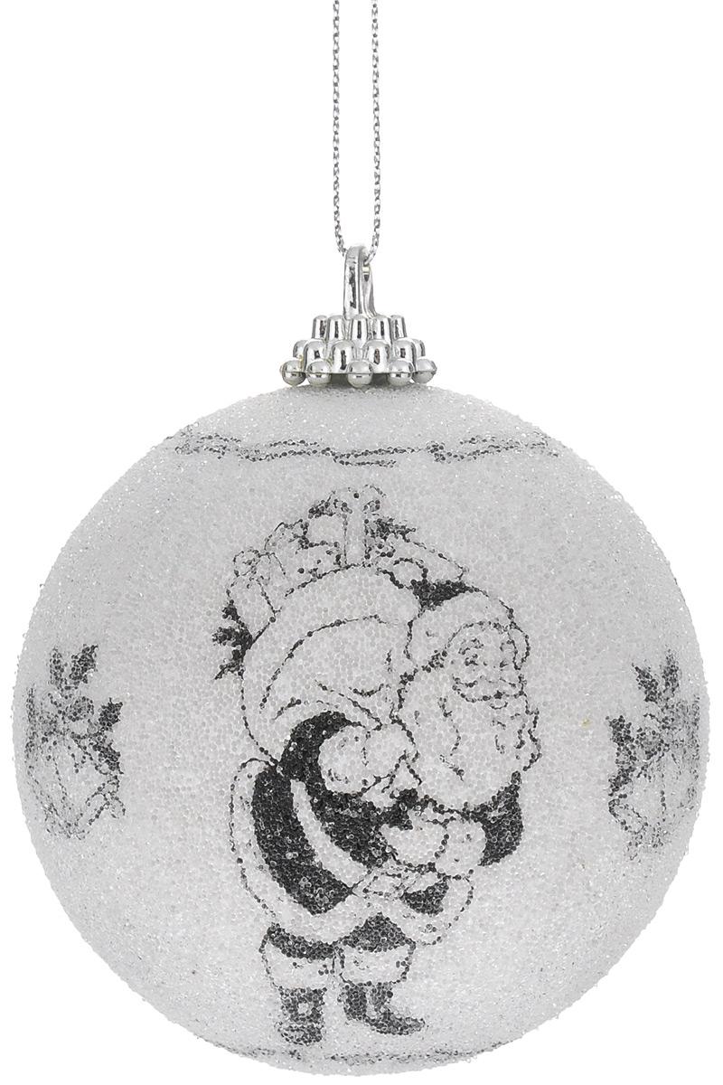 Новогоднее подвесное украшение Winter Wings Дед Мороз, цвет: белый, черный, диаметр 7,5 см. N069491N069491Новогоднее украшение Winter Wings Дед Мороз отлично подойдет для декорации вашего дома и новогодней ели. Украшение выполнено из картона в виде шара. Изделие оформлено изображением Деда Мороза и покрыто декоративной прозрачной крошкой. С помощью специальной петельки украшение можно повесить в любом понравившемся вам месте.Елочная игрушка - символ Нового года. Она несет в себе волшебство и красоту праздника. Создайте в своем доме атмосферу веселья и радости, украшая всей семьей новогоднюю елку нарядными игрушками, которые будут из года в год накапливать теплоту воспоминаний.