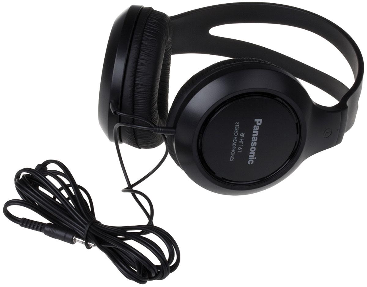 Panasonic RP-HT161E-K, Black наушникиRP-HT161E-KПолноразмерные мониторные наушники Panasonic RP-HT161E-K закрытого типа имеют большие мягкие амбушюры, созданные для комфортного прослушивания вашей любимой музыки. Шнур длиной 2 м обеспечит свободу передвижений, а 30-мм динамические головки - чистый и громкий звук.