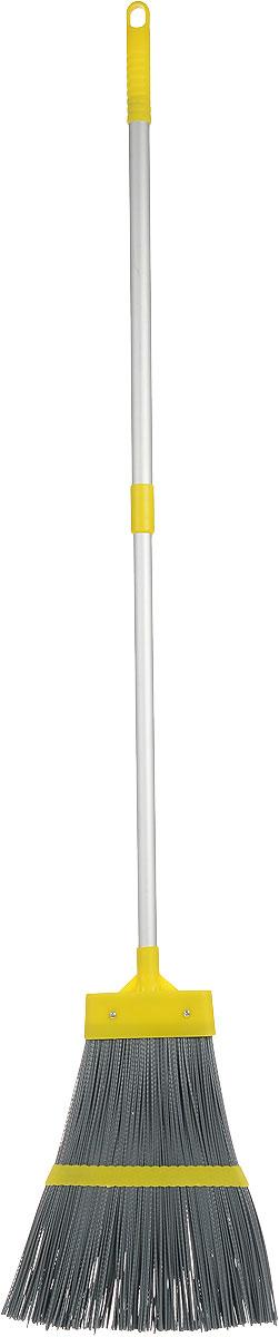 Метла Fratelli RE, с телескопической ручкой, цвет: желтый, серый, 106-150 см11673-A_желтый, серыйМетла Fratelli RE - очень важный инструмент, предназначенный для уборки улиц, дворов, производственных помещений, садовых и дачных участков. Метла снабжена жестким ворсом и прочной ручкой с петелькой для подвешивания. Оригинальная, современная, удобная метла сделает уборку эффективнее и приятнее.Длина ручки: 106-150 см.Размер рабочей части метлы: 32 см х 30 см х 2 см.