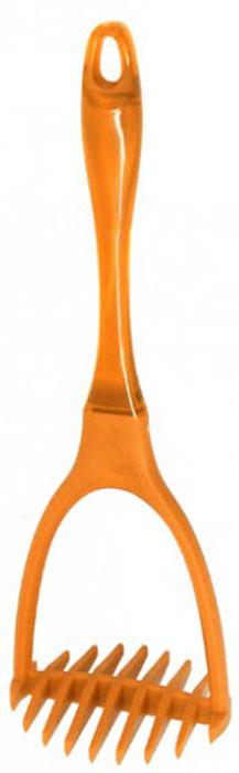 Пресс для картофеля МФК-профит Color Teflon, цвет: оранжевый, длина 29 смMFK01151Пресс для картофеля МФК-профит Color Teflon выполнен из высококачественного нейлона и акрила. Изделие безопасно для посуды с антипригарным и керамическим покрытием. Эргономичная рукоятка обеспечивает надежный хват. Благодаря небольшому ушку на конце ручки картофелемялку можно подвесить в удобном для вас месте на кухне. При помощи этой картофелемялки вы сможете измельчить картофель, не прилагая к этому много усилий.Пресс для картофеля МФК-профит Color Teflon станет отличным дополнением к коллекции ваших кухонных аксессуаров. Можно мыть в посудомоечной машине. Общая длина пресса: 29 см.Размер рабочей поверхности: 9,5 см х 8 см.