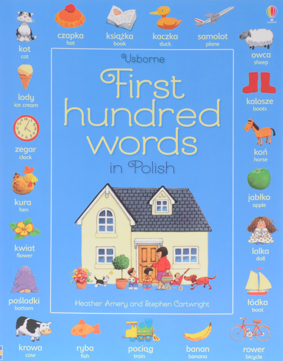 First Hundred Words in Polish first hundred words in english sticker book