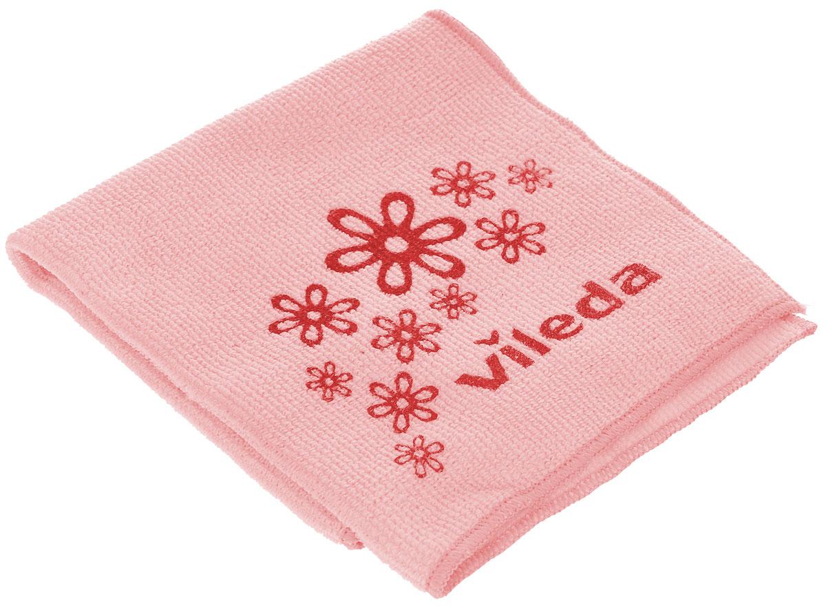 Салфетка универсальная Vileda Микрофибра, цвет: розовый, 32 х 32 см салфетка для уборки донна роза универсальная цвет розовый