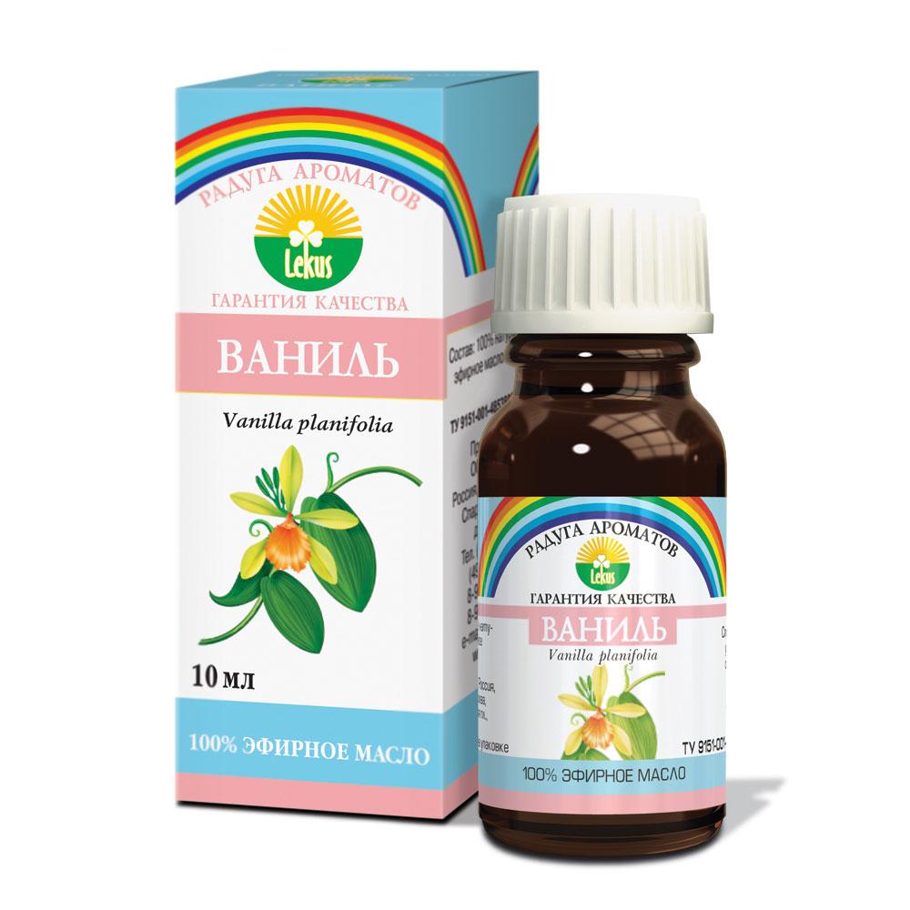 Радуга ароматов Ваниль масло эфирное, 10 мл1381Эфирное масло ванили успокаивает и расслабляет напряженные нервы, улучшает память, способствует концентрации внимания. Эффективно действует в качестве антидепрессанта. Повышает аппетит, нормализующе влияет на работу желудка, способствует лучшей усвояемости пищи.Отличное косметическое средство для кожи чувствительного типа, в особенности поврежденной: масло ванили снимает воспалительные процессы, прекращает шелушение кожных покровов.В ароматических лампах способно создать в доме атмосферу умиротворения и покоя.Способы использования эфирного масла ванили: применяется в аромалампах в количестве 3-5 капель; используется как добавка в пену для ванн – 5-6 капель; обогащает косметические препараты в пропорции 7 капель масла на 15г основного средства.Противопоказанием к использованию масла ванили является индивидуальная чувствительность к компонентам средства.