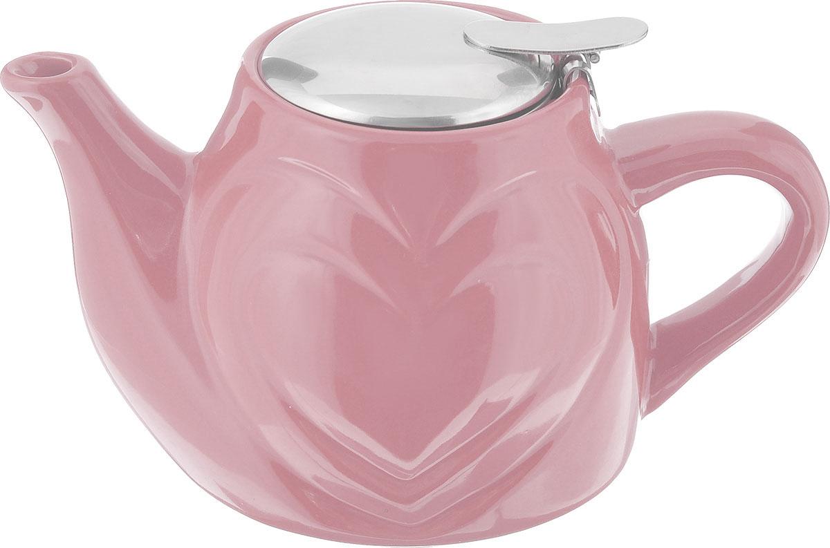 Чайник заварочный Loraine, с фильтром, цвет: розовый, 500 мл23058_розовыйЗаварочный чайник Loraine изготовлен из высококачественной керамики и нержавеющей стали. Изделие оснащено фильтром, благодаря которому задерживает чаинки и предотвращает попадание их в чашку.Глянцевый корпус обеспечивает легкую очистку. Чайник поможет заварить крепкий ароматный чай и великолепно украсит стол к чаепитию. Диаметр чайника (по верхнему краю): 7,5 см. Высота чайника (без учета крышки): 10,5 см.Высота фильтра: 6 см.