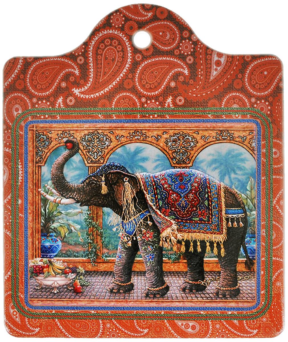 Подставка под горячее GiftnHome Слон Маракеш, 16 х 19 смW-16 MarakeshПодставка под горячее GiftnHome Слон Маракеш выполнена из высококачественной керамики. Изделие, украшенное ярким изображением в индийском стиле, идеально впишется в интерьер современной кухни. Специальное пробковое основание подставки защитит вашу мебель от царапин. Подставка имеет специальное крепление для подвеса на стену. Изделие не боится высоких температур и легко чистится от пятен и жира.Каждая хозяйка знает, что подставка под горячее - это незаменимый и очень полезный аксессуар на каждой кухне. Ваш стол будет не только украшен оригинальной подставкой с красивым рисунком, но и сбережен от воздействия высоких температур ваших кулинарных шедевров. Нельзя мыть в посудомоечной машине.
