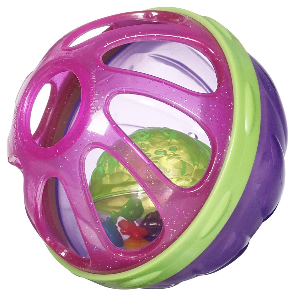 Munchkin Игрушки для ванны Мячик цвет фиолетовый розовый зеленый munchkin игрушка для ванной мячик