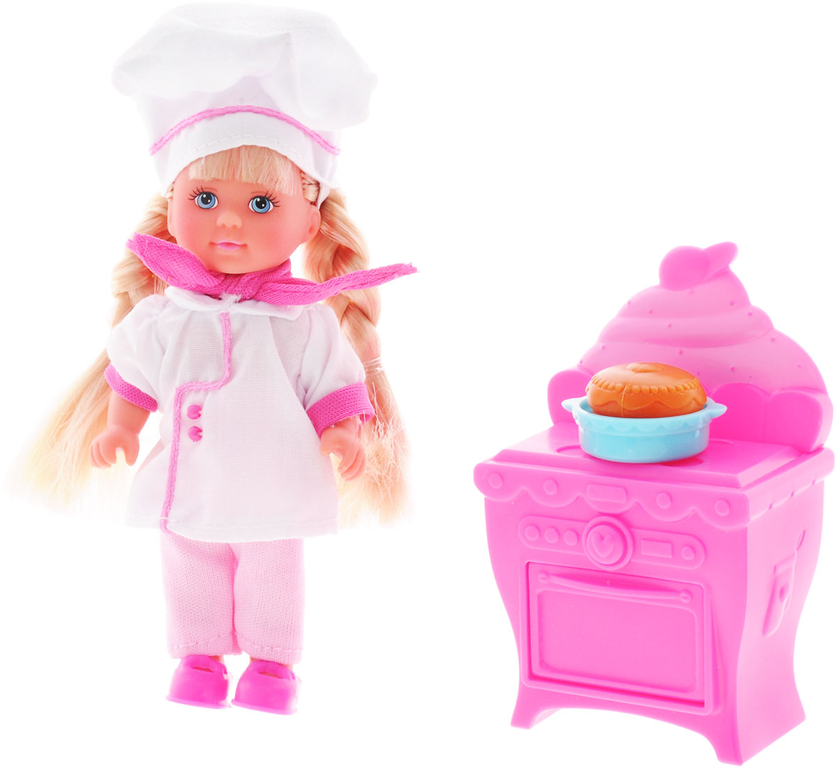 Simba Игровой набор с куклой Еви печет торт simba игровой набор с мини куклой evi love fairy carriage