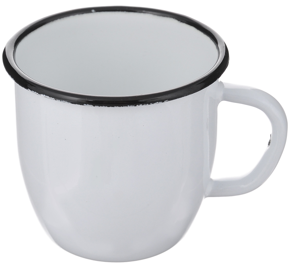 Кружка эмалированная АК ЛМЗ, цвет: белый, 250 мл ведро лмз 15л
