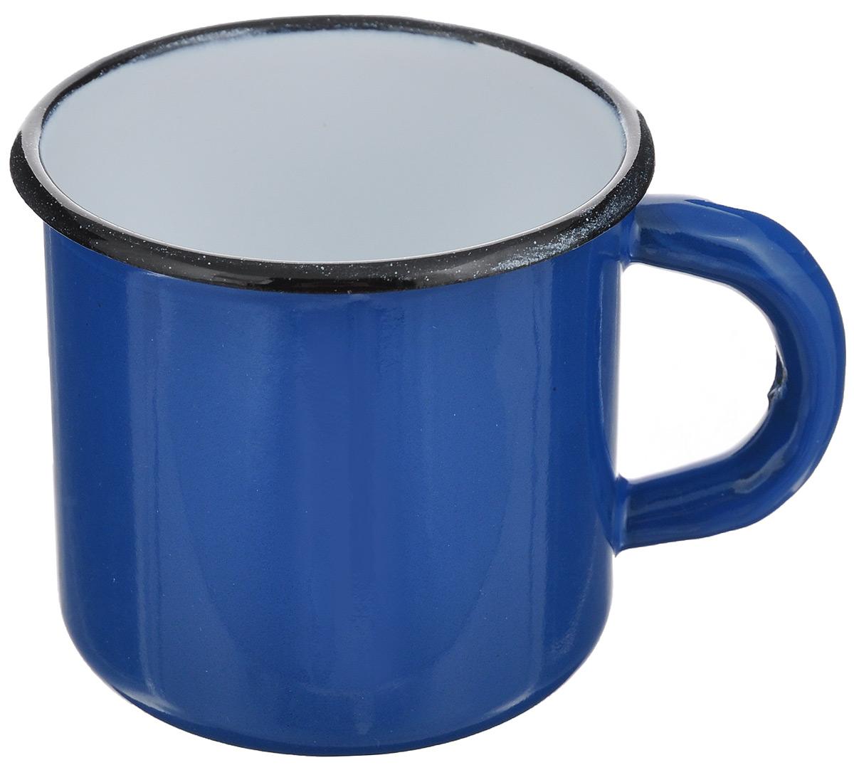 Кружка эмалированная СтальЭмаль, цвет: синий, 250 мл2с1яКружка СтальЭмаль, изготовленная из высококачественной стали с эмалированным покрытием, оснащена удобной ручкой. Такая кружка не требует особого ухода и ее легко мыть. Благодаря классическому дизайну и удобству в использовании кружка займет достойное место на вашей кухне.