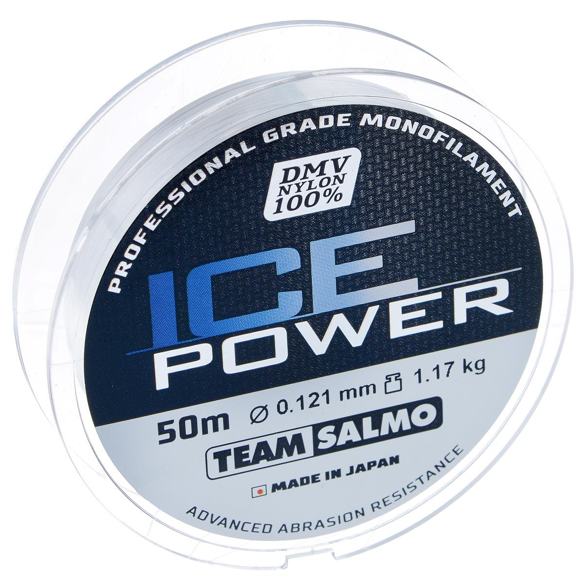Леска монофильная Team Salmo Ice Power, сечение 0,121 мм, длина 50 м леска монофильная team salmo ice power сечение 0 28 мм длина 50 м