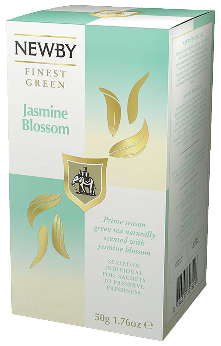 Newby Jasmine Blossom зеленый чай с жасмином в пакетиках, 25 шт310090Классический китайский зеленый чай Newby Jasmine Blossom с нежным ароматом жасмина отлично взбодрит и придаст сил в любое время дня.Уважаемые клиенты! Обращаем ваше внимание на то, что упаковка может иметь несколько видов дизайна. Поставка осуществляется в зависимости от наличия на складе.