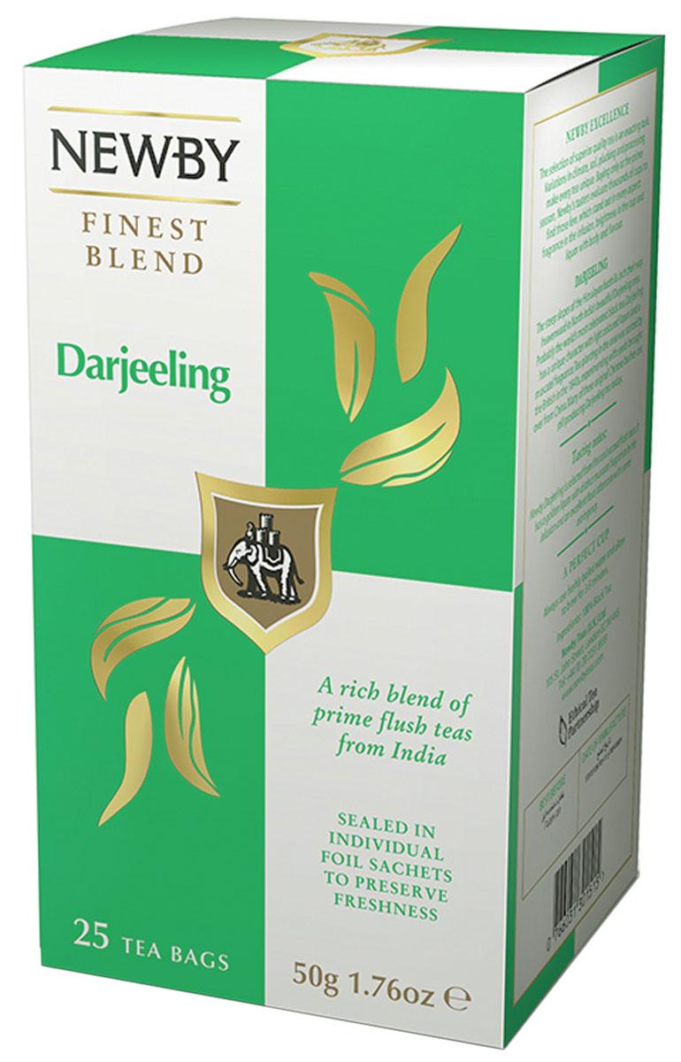 Newby Darjeeling черный чай в пакетиках, 25 шт310020Чай Newby Darjeeling собран с высокогорных чайных плантаций Индии, получивший название шампанского среди чаев. Он обладает светлым настоем, цветочным ароматом и мускатным привкусом.