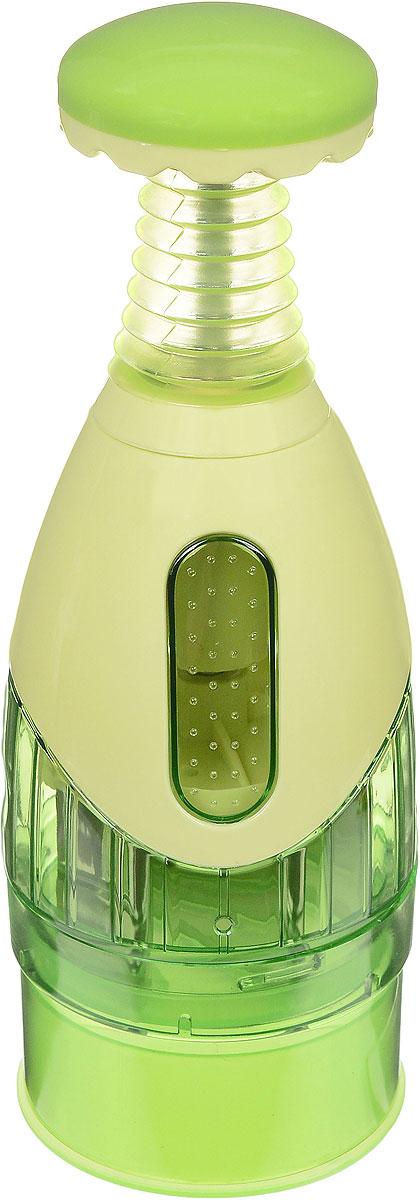 Измельчитель-чоппер Mayer & Boch, механический, цвет: салатовый20010Измельчитель-чоппер Mayer & Boch, изготовленный из высокопрочного пластика, предназначен для измельчения чеснока, лука, зелени и других продуктов. Для измельчения необходимо положить продукт в измельчитель, закрыть крышку и несколько раз нажать на кнопку сверху. Установленные на крышке измельчителя острые лезвия из нержавеющей стали, позволяют достичь превосходного результата.Измельчитель-чоппер Mayer & Boch - незаменимый помощник хозяйкам на кухне. С таким аксессуаром вы будете избавлены от запахов, слез и не запачкаете рук. Диаметр основания: 8,5 см.Высота: 25 см.