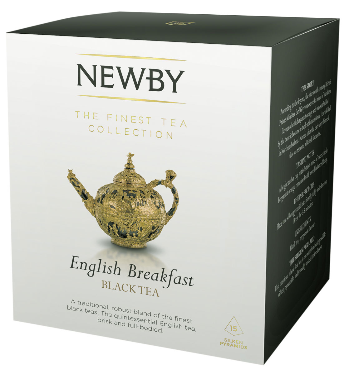 Newby English Breakfast черный чай в пирамидках, 15 шт newby masala chai черный листовой чай со специями в пирамидках 15 шт