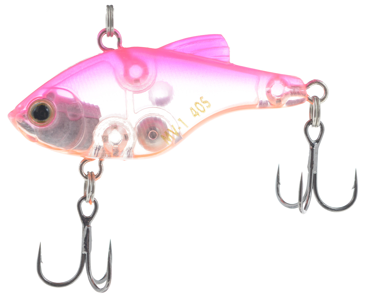 Воблер Maria MV-1 Vibration 40, тонущий, цвет: розовый, прозрачный, оранжевый, 4 см, 4,8 г22761Пластиковый раттлин Maria MV-1 Vibration 40 обладает рядом качеств, с которыми не могут соперничать металлические. Область применения данного воблера практически такая же, как у глубоководного крэнка. Фактически, его можно назвать безлопастным крэнком. Способность ловить рыбу как на глубине, так и в мелких местах делает Maria MV-1 Vibration 40 универсальной приманкой. Ведите его с паузами или дайте ему опуститься на дно и используйте проводку с подергиванием. Дальнобойность и неотразимая игра делают его идеальной поисковой приманкой.Глубина: 3 м.