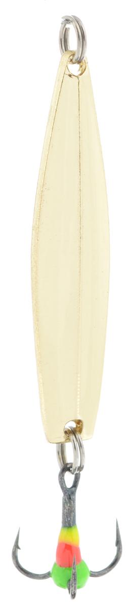 Блесна зимняя SWD, цвет: золотой, 45 мм, 4 г48291Блесна зимняя SWD - это классическая вертикальная блесна. Выполнена из высококачественного металла. Предназначена для отвесного блеснения рыбы. Блесна оснащена тройником со светонакопительной каплей.