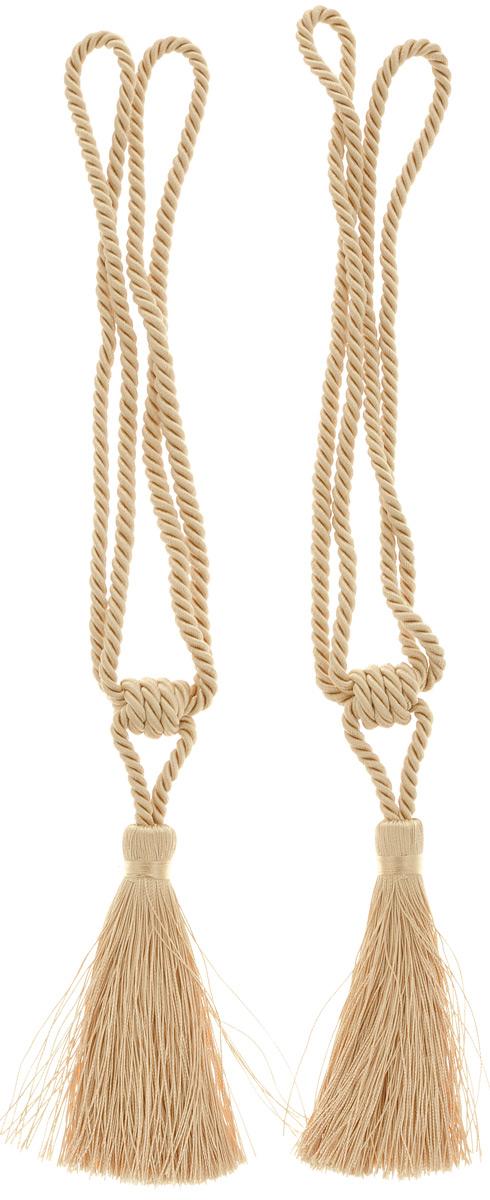 Подхват для штор Мир Мануфактуры, цвет: светлое золото, длина 43 см, 2 шт5801955_светлое золотоПодхват для штор Мир Мануфактуры выполнен из высококачественной вискозы и представляет собой кисть на витом шнуре. Подхват - это основной вид фурнитуры в декоре штор, сочетающий в себе не только декоративную функцию, но и практическую - регулировать поток света.Подхваты способны украсить любую комнату. Длина кисти с подхватом: 43 см. Длина кисти: 11 см.