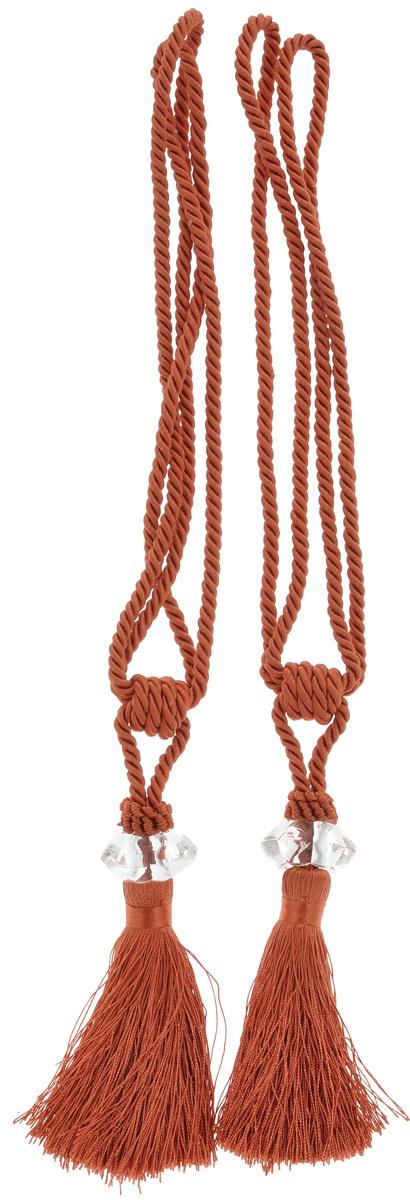 Подхват для штор Мир Мануфактуры, цвет: терракотовый, длина 45 см, 2 шт546236_4 терракотПодхват для штор Мир Мануфактуры выполнен из высококачественной вискозы ипредставляет собой кисть на витом шнуре с декоративной бусиной.Подхват - это основной вид фурнитуры в декоре штор, сочетающий в себе не только декоративную функцию, но и практическую - регулировать поток света. Подхваты способны украсить любую комнату.Длина кисти с подхватом: 45 см.Длина кисти: 19 см.