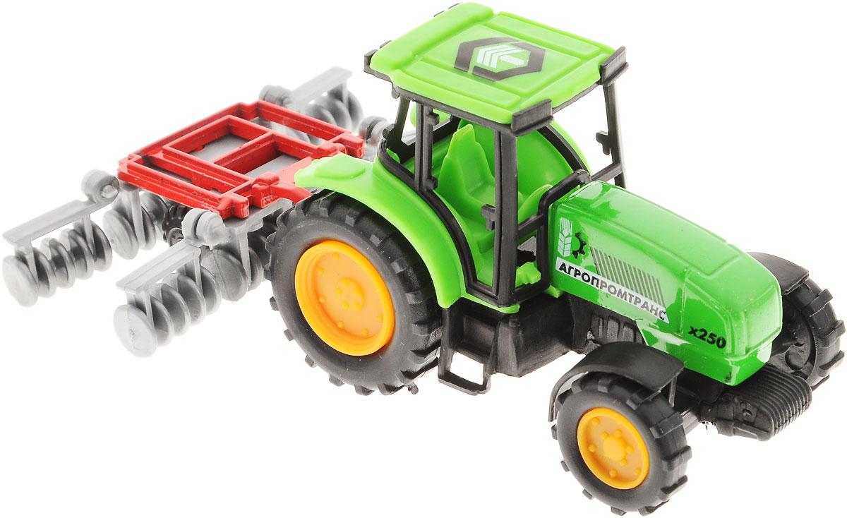 ТехноПарк Коллекционная модель Трактор с прицепом трактор с прицепом св ход 36см dickie