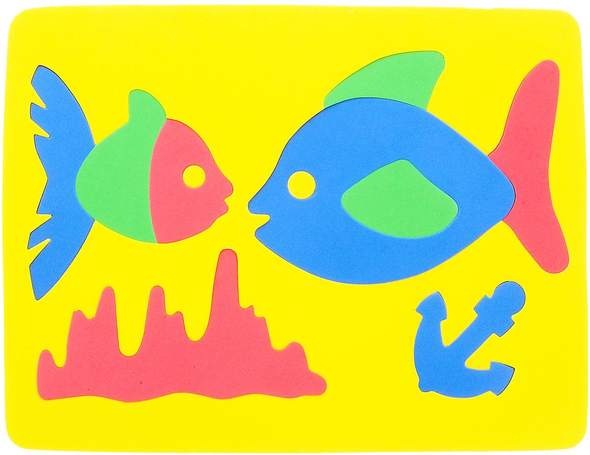 Фантазер Пазл для малышей Рыбки цвет основы желтый