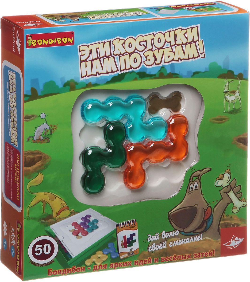 Bondibon Обучающая игра Эти косточки нам по зубам! забавные цветы вв0899 bondibon