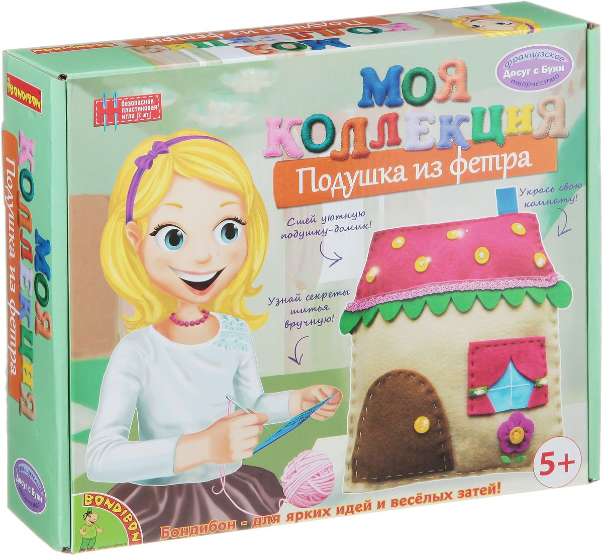 Bondibon Набор для шитья из фетра Подушка-домик