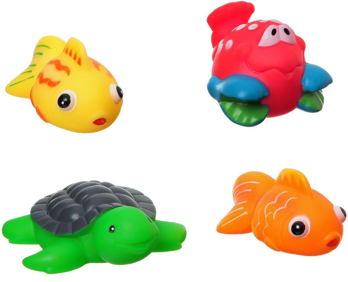 Bondibon Игрушка для ванной Рыбки рак черепаха набор для купания bondibon игрушка из фетра матрешка bondibon